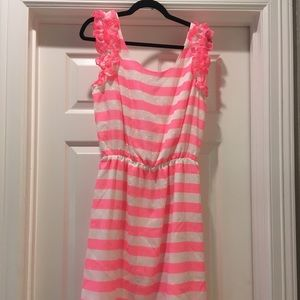 Lilly Pulitzer Hot Pink Striped Dress
